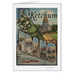 Ketchum, Idaho - Large Letter Scenes Greeting Cards