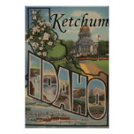Ketchum, Idaho - Large Letter Scenes Posters