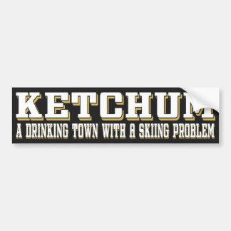 Ketchum que bebe y que esquía pegatina para auto