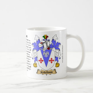 Ketchum, the Origin, the Meaning and the Crest Coffee Mug
