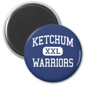 Ketchum Warriors Middle Ketchum Oklahoma 2 Inch Round Magnet