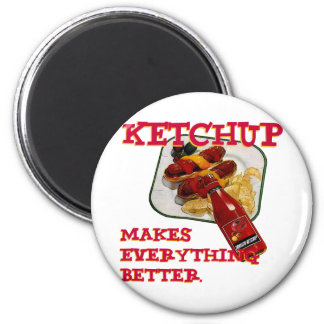 Ketchup 2 Inch Round Magnet