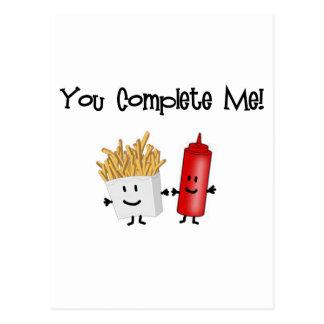 Ketchup and Fries! Post Card