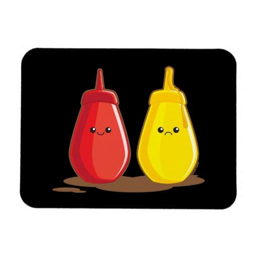 Ketchup and Mustard Rectangular Magnets