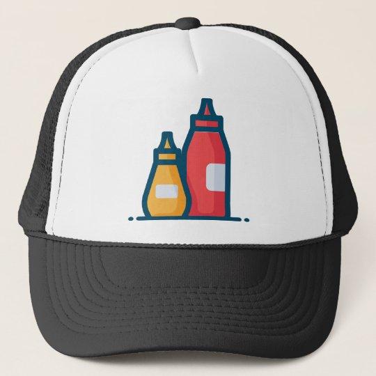 01aea62aa31 Ketchup and Mustard Trucker Hat