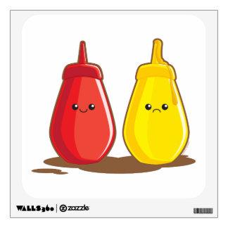 Ketchup and Mustard Wall Sticker