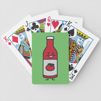 Ketchup Bottle Tomato Sauce Table condiment fancy Bicycle Playing Cards