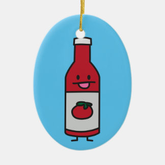 Ketchup Bottle Tomato Sauce Table condiment fancy Ceramic Ornament