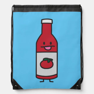 Ketchup Bottle Tomato Sauce Table condiment fancy Drawstring Backpack