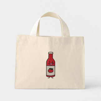 Ketchup Bottle Tomato Sauce Table condiment fancy Mini Tote Bag