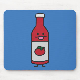 Ketchup Bottle Tomato Sauce Table condiment fancy Mouse Pad
