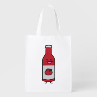 Ketchup Bottle Tomato Sauce Table condiment fancy Reusable Grocery Bag