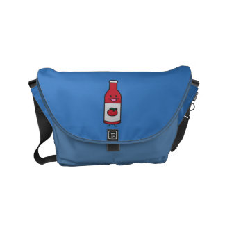 Ketchup Bottle Tomato Sauce Table condiment fancy Small Messenger Bag
