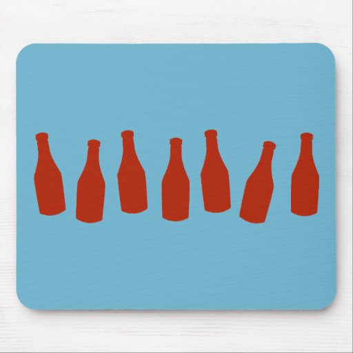 Ketchup Bottles Mouse Pad