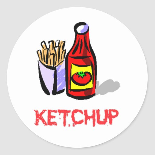 ketchup classic round sticker