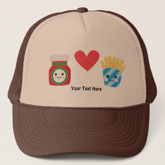 Ketchup & Fries (customizable) Trucker Hat
