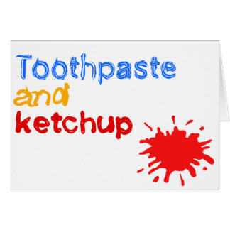 ketchup greeting card