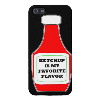 Ketchup is my favorite flavor funny humor keep cal iPhone 5 cases