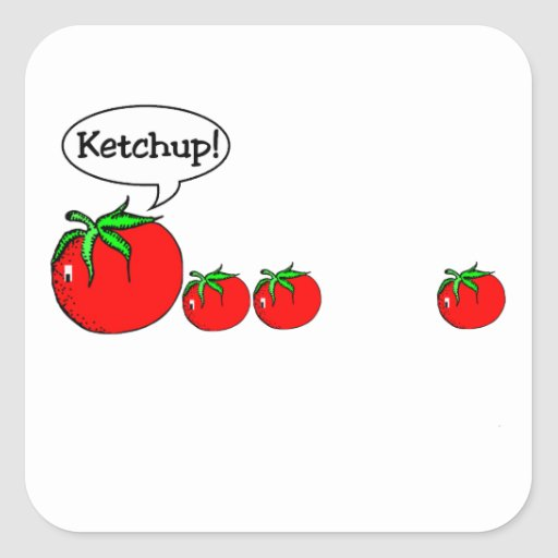 Ketchup Joke Sticker