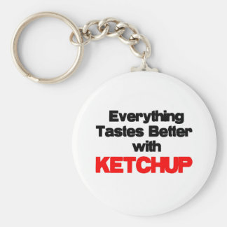 KETCHUP LOVER BASIC ROUND BUTTON KEYCHAIN