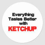 KETCHUP LOVER CLASSIC ROUND STICKER