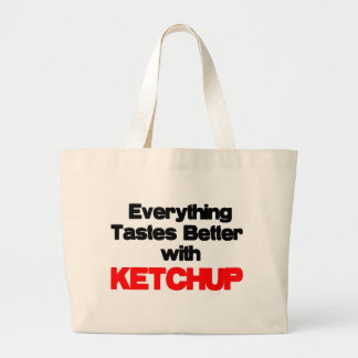 KETCHUP LOVER LARGE TOTE BAG