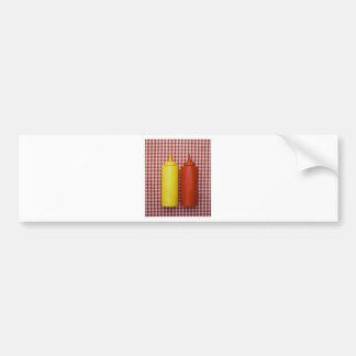 Ketchup & Mustard Bumper Sticker