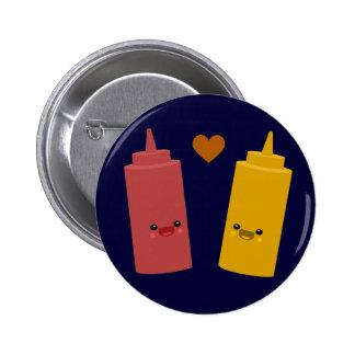 Ketchup & Mustard Friends Pinback Button
