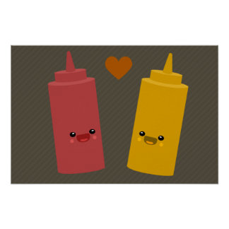 Ketchup & Mustard Friends Poster