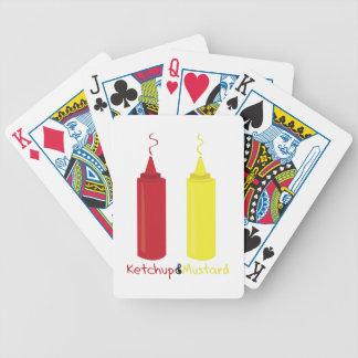 Ketchup & Mustard Bicycle Playing Cards