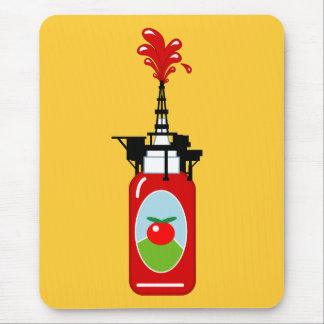Ketchup Oil Rig Mouse Pad