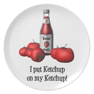 Ketchup On My Ketchup Plate