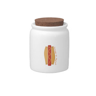 Ketchup or Mustard Candy Jars