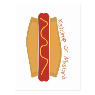 Ketchup or Mustard Postcard