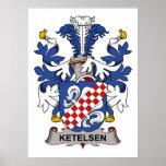 Ketelsen Family Crest Poster