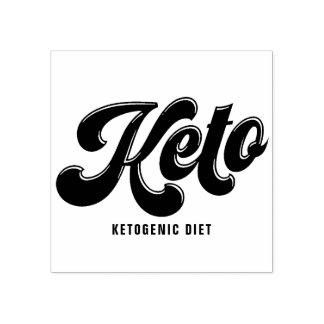 Keto Black Retro Script Typography Rubber Stamp