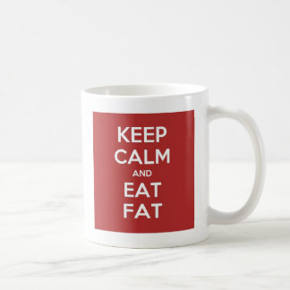 Keto Mug: Keep Calm and Eat Fat* Classic White Coffee Mug