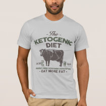 KETOGENIC DIET: Eat Fat Aid Alzheimer's, Camo Cow T-Shirt