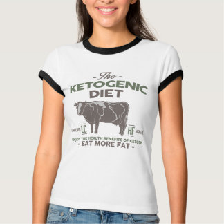 KETOGENIC DIET: Eat Fat Health Benefits, Camo Cow T-Shirt