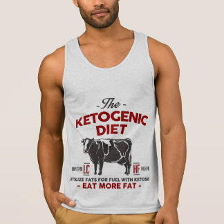 KETOGENIC DIET: Eat Keto Burn Fat As Fuel, Red Cow Tank Top