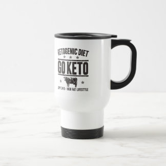 KETOGENIC DIET: Go Keto - Eat Low Carb, Onyx Cow Travel Mug