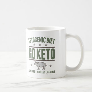 KETOGENIC DIET: Go Keto - High Fat Life, Camo Pig Coffee Mug
