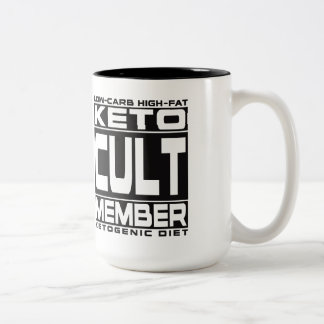 KETOGENIC DIET: Keto Cult Member - I Love Ketones! Two-Tone Coffee Mug