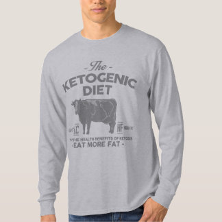 KETOGENIC DIET: Ketones Health Benefits, Gray Cow T-Shirt