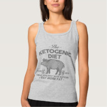 KETOGENIC DIET: Ketones Treat Epilepsy, Gray Pig Tank Top