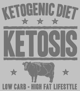 403088eb KETOGENIC DIET: Ketosis - Cut Out Sugar, Gray Cow T-shirt