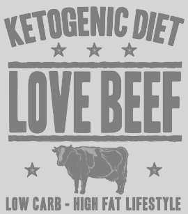 cea78f6e KETOGENIC DIET: Love Beef Cut Out Sugar, Gray Cow T-Shirt