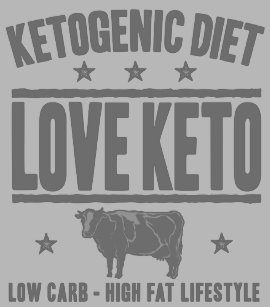 95b99b3a KETOGENIC DIET: Love Keto Cut Out Sugar, Gray Cow T-Shirt