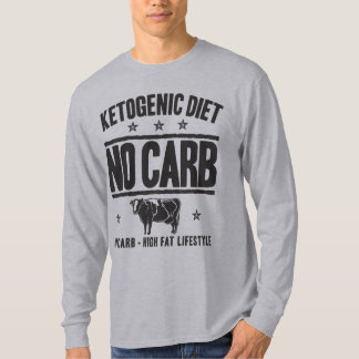 KETOGENIC DIET: No Carb - Eat Low Carb, Onyx Cow T-Shirt