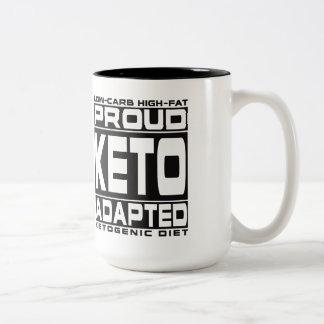 KETOGENIC DIET: Proud Keto Adapted! I Love Ketones Two-Tone Coffee Mug